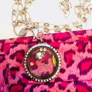 Origami Owl Chain & Locket with Charms